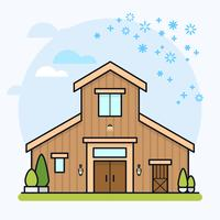 Barn house vector