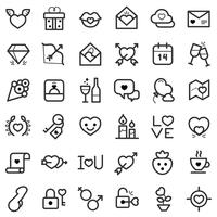 Valentijnsdag pictogrammen instellen