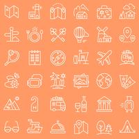 Reis geplaatste pictogrammen.