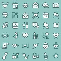 Valentine's day icons set