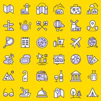 Conjunto de ícones de viagens.
