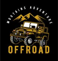 Offroad adventure vector