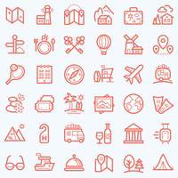 Ensemble d'icônes de voyage.
