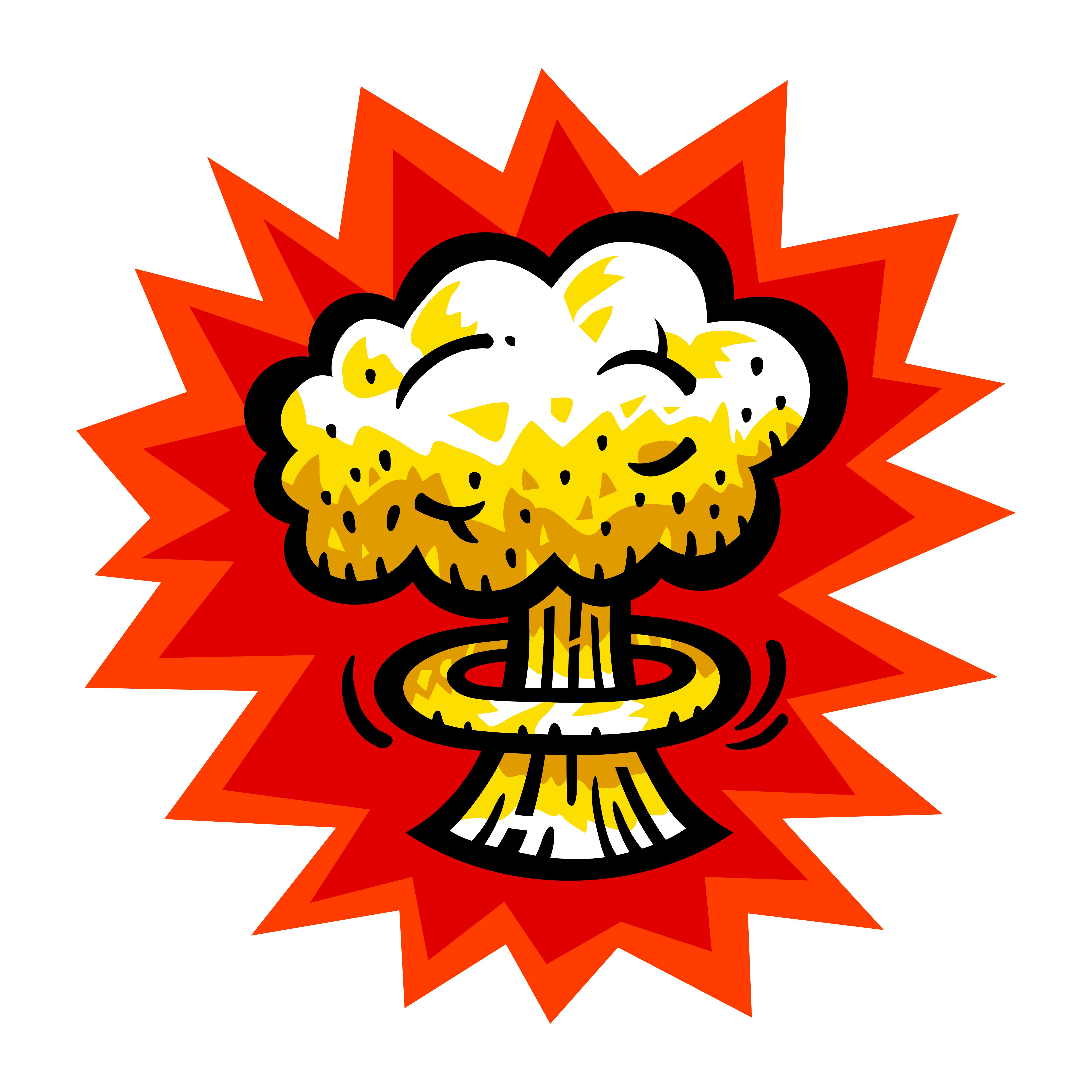 mushroom cloud atomic nuclear bomb explosion fallout vector icon download free vectors clipart graphics vector art vecteezy