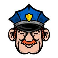 Cartoon Cop Polis Officer