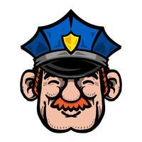 Policía de dibujos animados oficial de policía