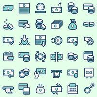 Icônes commerciales et financières