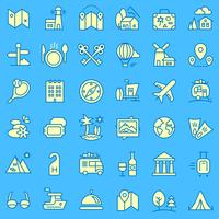 Travel icons set. vector