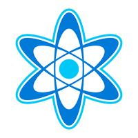 Dynamic Atom Molecule Science Symbol vector icon