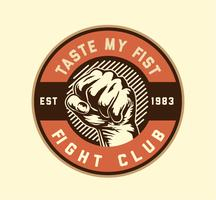 fight club fist vector