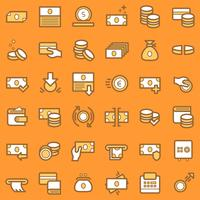 Business and finance icons set.