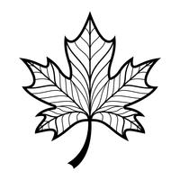 Herfst Maple Leaf vector logo