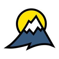 Icône de vecteur de chaîne de montagnes