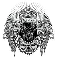 aggressives Wappen mit Totenkopf vektor