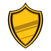Shield crest vector icon