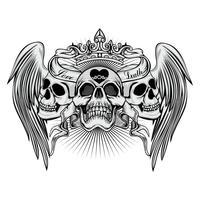armoiries du crâne grunge