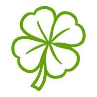 Trevo irlandês sorte para o dia de São Patrício