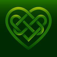 Celtic knot heart vector illustration