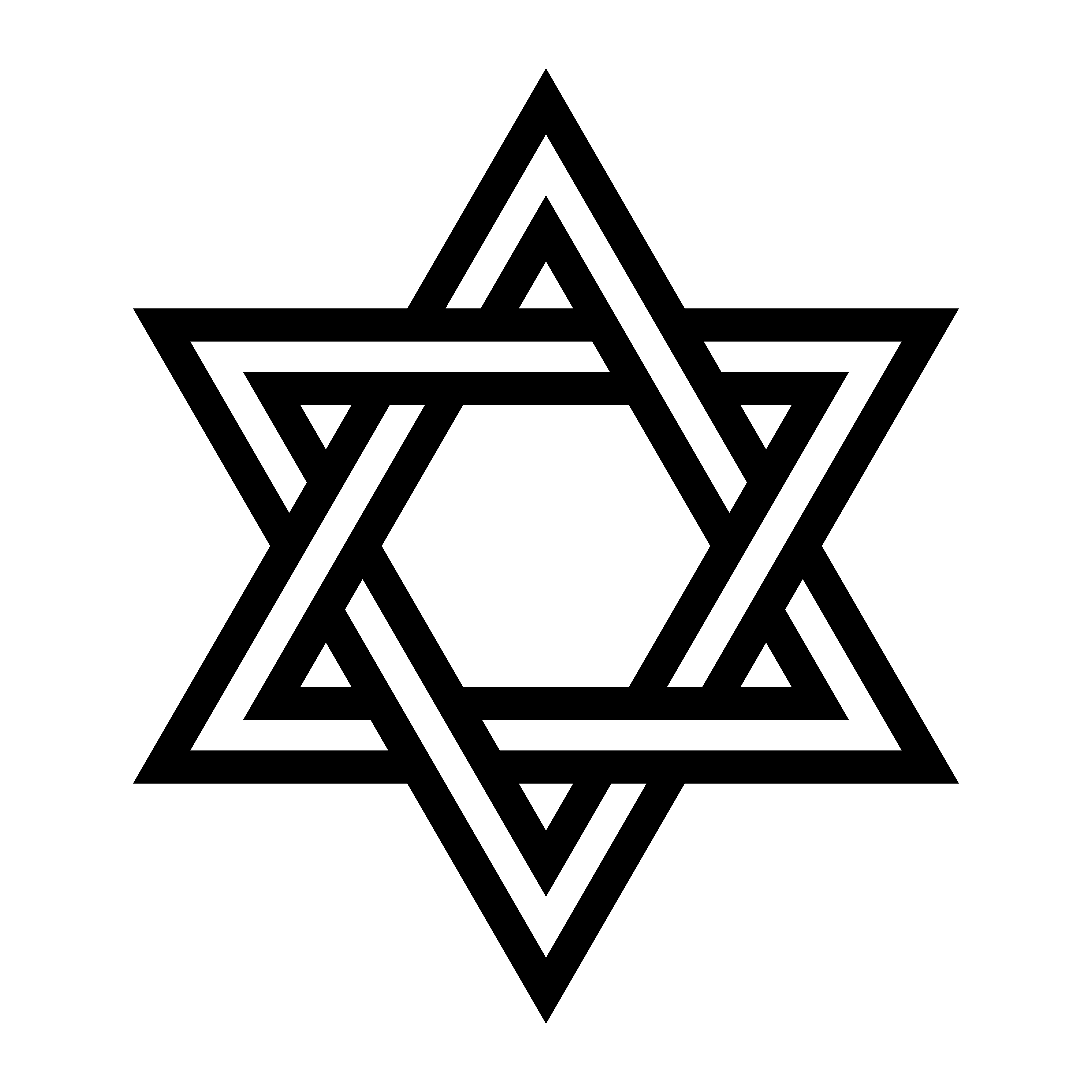 Jewish Star Of David Six Pointed Star In Black With Interlocking Style Vector Icon Download Free Vectors Clipart Graphics Vector Art
