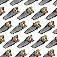 Hand saw construction tool for cutting wood. Cartoon illustration vector