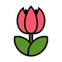 Tulpe Blume Vektor Icon