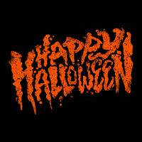 Happy Halloween text design lettering