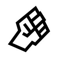 Verhoogde vuist vector pictogram