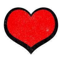 Cuore romantico amore grafico