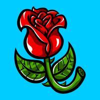 Hermosa ilustración de vector de flor rosa