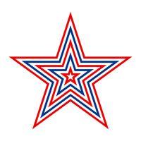 Amerika ster vector pictogram