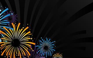 Explodindo o ícone de vetor de logotipo de fogos de artifício