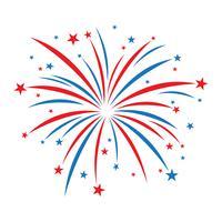 Explosiv Fireworks-logotyp vektorikon
