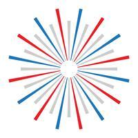 Exploding Fireworks logo vector icon