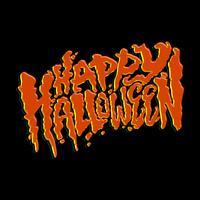Lycklig Halloween textdesign bokstäver