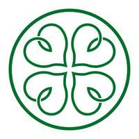 Lucky Irish Clover för St Patrick's Day