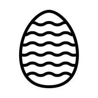 Icona di vettore dell'uovo di Pasqua