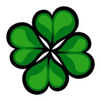 Lucky Irish Clover for St. Patrick's Day vector
