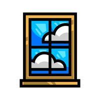 Painel de vidro de moldura de janela
