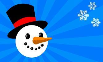Ilustración de vector de dibujos animados de muñeco de nieve