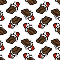 chocolate bar cartoon seamless pattern