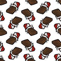 barra de chocolate de patrones sin fisuras de dibujos animados