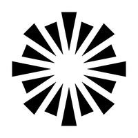 Icône de vecteur de logo de feux d'artifice éclatant