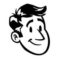 Ilustración de vector de dibujos animados de cabeza de hombre