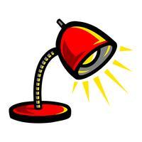Lámpara de escritorio Vector icono