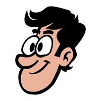 Illustration vectorielle de tête homme dessin animé