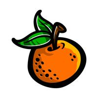 Orange frukt illustration