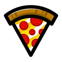 Pizza Slice vector pictogram