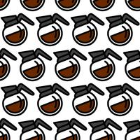 Coffee Pot Hot Drink Cartoon Illustratie