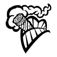 Sigaar roken mond tanden vector pictogram