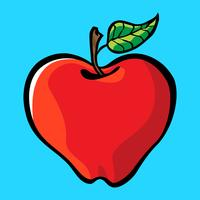 Apple-Cartoon-Vektor-Symbol